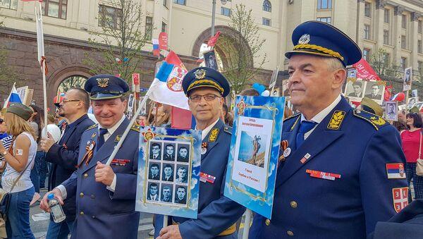 """Српска делегација на """"Бесмртном пуку"""" у Москви - Sputnik Србија"""