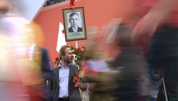 Šetnja Besmrtnog puka u Moskvi - Sputnik Srbija