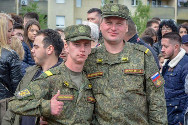 Припадници руских оружаних снага Русије А. Швацов и Н. Карпуњин - Sputnik Србија