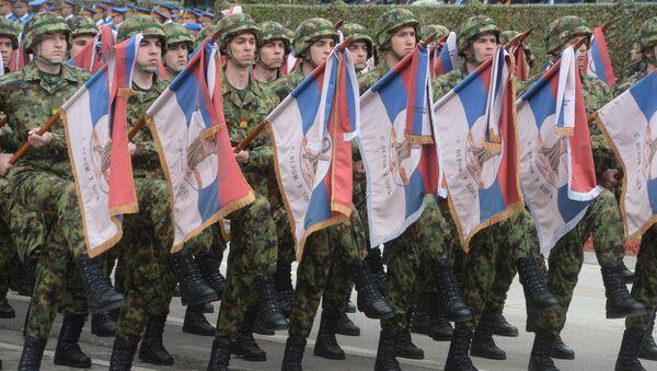 Pripadnici Vojske Srbije na vojno-policijskoj paradi Odbrana slobode u Nišu - Sputnik Srbija