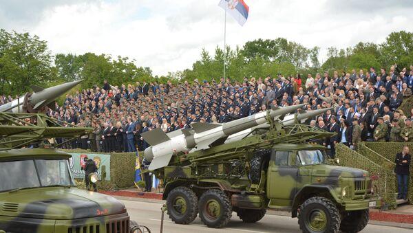 Raketni sismet Neva na vojnoj paradi u Nišu - Sputnik Srbija
