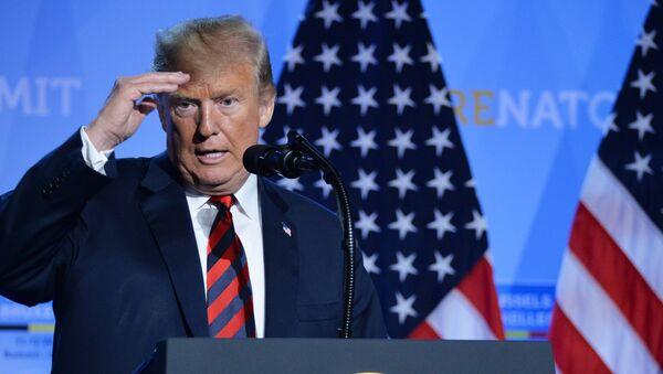 Predsednik Sjedinjenih Američkih Država Donald Tramp na samitu NATO-a - Sputnik Srbija