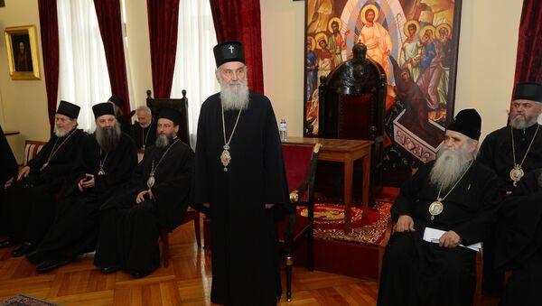 Patrijarh Irinej na redovnom zasedanju Svetog arhijerejskog sabora SPC - Sputnik Srbija