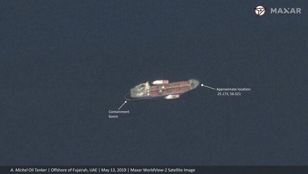 Сателитски снимак саудијског танкера код Уједињених Арапских Емирата  - Sputnik Србија