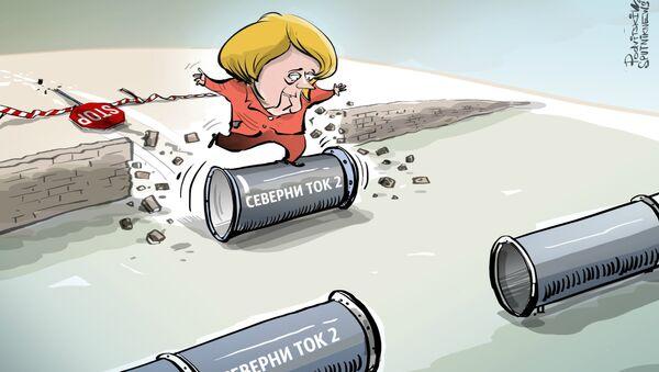 Меркелова неће дозволити да се заустави Северни ток 2 - Sputnik Србија