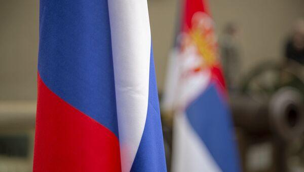 Zastave Rusije i Srbije - Sputnik Srbija