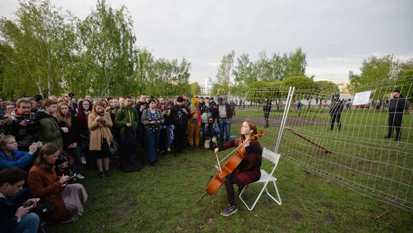 Протести поводом изградње храма у Јекатеринбургу - Sputnik Србија