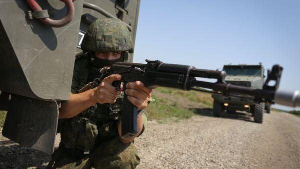 Тактичке војне вежбе јединица за специјалне намене Јужног војног округа Русије - Sputnik Србија