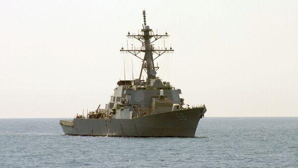 Američki razarač klase Arli Birk Gonzales na Sredozemnom moru - Sputnik Srbija