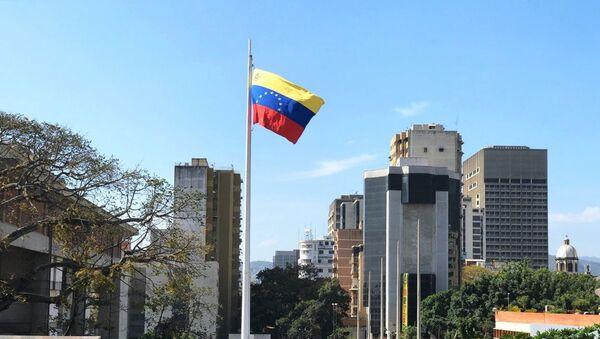 Застава Венецуеле на улици у Каракасу - Sputnik Србија
