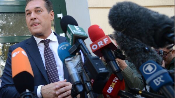 Vice-kancelar Austrije Hans Kristijan Štrahe - Sputnik Srbija