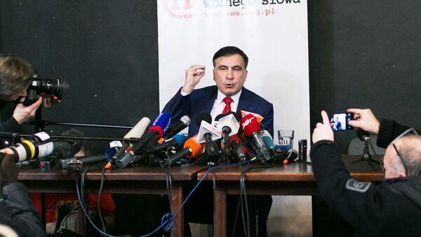 Бивши губернатор Одеске области Украјине и бивши председник Грузије Михаил Сакашвили - Sputnik Србија