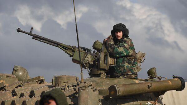Војник сиријске војске у провинцији Алеп - Sputnik Србија