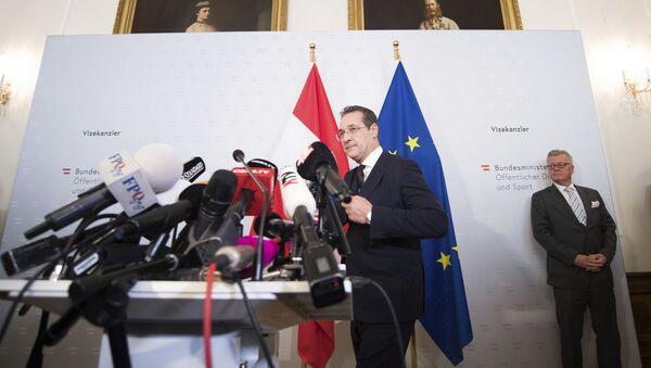 Potpredsednik austrijske vlade Hajnc-Kristijan Štrahe - Sputnik Srbija