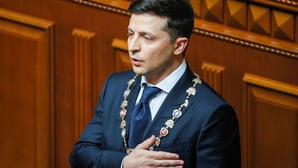 Predsednik Ukrajine Vladimir Zelenski na ceremoniji inauguracije - Sputnik Srbija