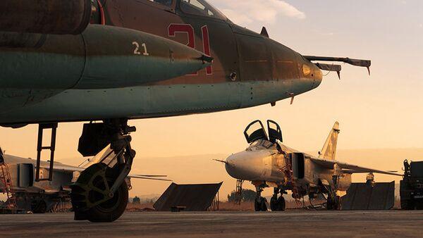 Avioni vazdušno-kosmičkih snaga Rusije u vazdušnoj bazi Hmejmim u Siriji - Sputnik Srbija