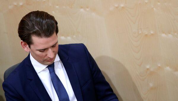 Austrijski kancelar Sebastijan Kurc na sednici parlamenta. - Sputnik Srbija