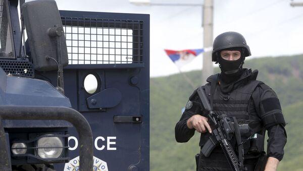 Припадници тзв. специјалних снага Косова на северном делу Косово и Метохије - Sputnik Србија