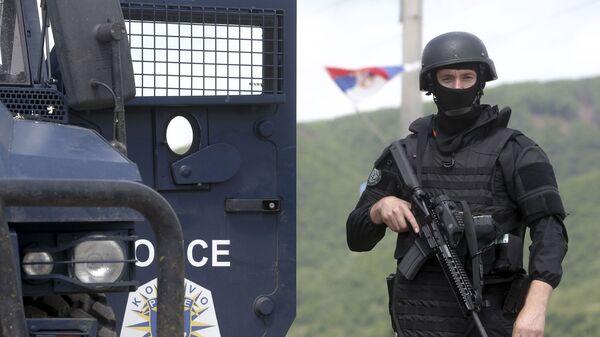 Припадници тзв. специјалних снага Косова на северном делу Косова и Метохије - Sputnik Србија