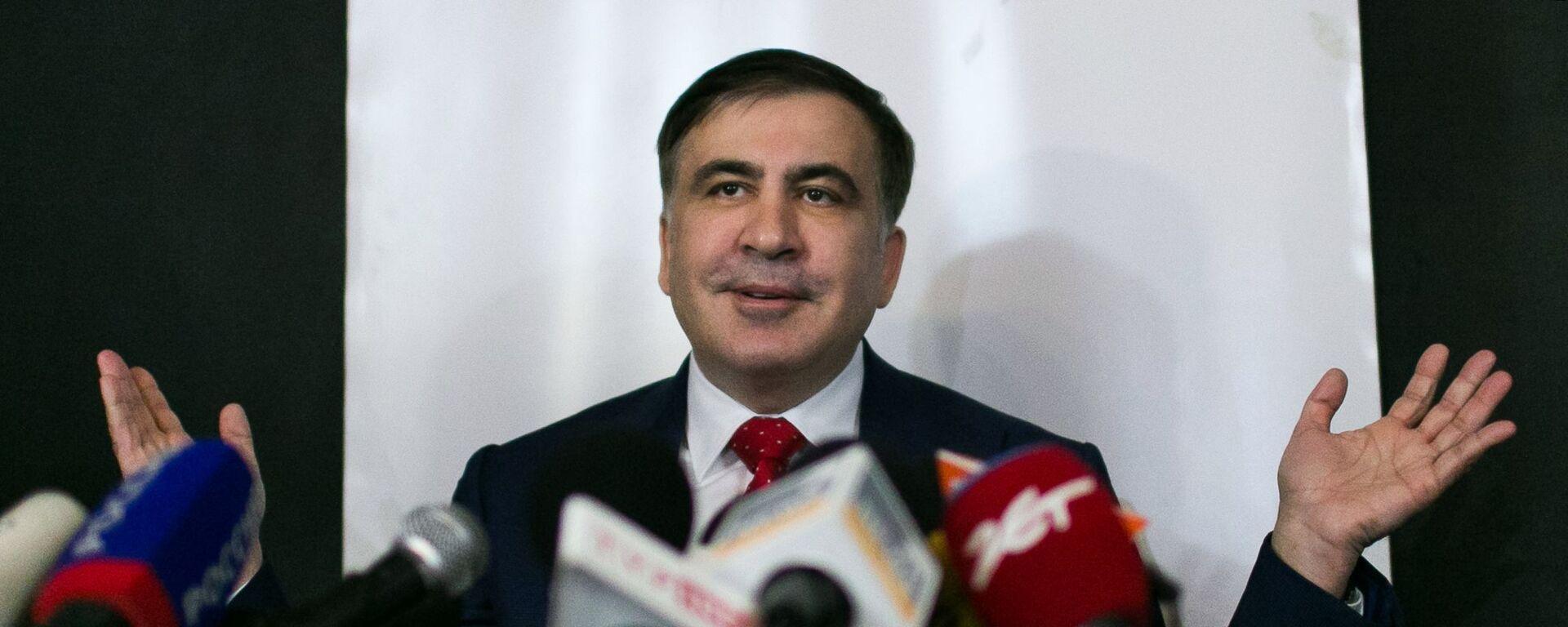 Бивши председник Грузије Михаил Сакашвили - Sputnik Србија, 1920, 01.10.2021