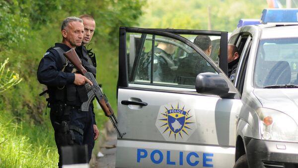 Pripadnici specijalne jedinice kosovske policije na severu Kosova i Metohije - Sputnik Srbija
