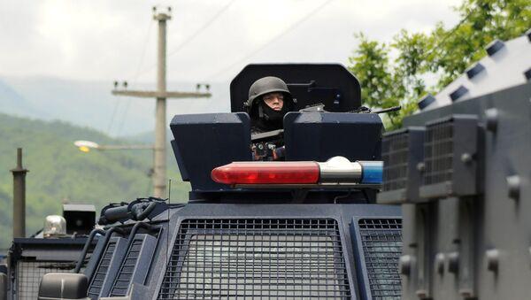 Припадници специјалне јединице косовске полиције на северу Косова и Метохије - Sputnik Србија