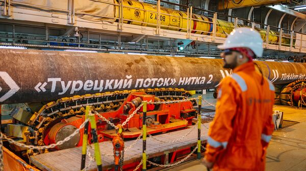 Završetak radova na morskom delu gasovoda Turski tok - Sputnik Srbija