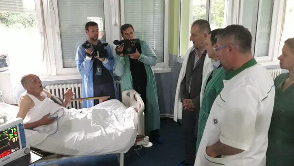 Mihail Krasnoščekov snimljen u bolnici u Kosovskoj Mitrovici - Sputnik Srbija