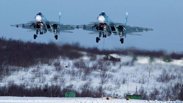 Тренинг 279. борбеног одреда Северне флоте Руског ратног ваздухопловства - Sputnik Србија