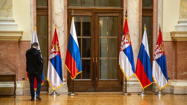 Заставе Русије и Србије  - Sputnik Србија