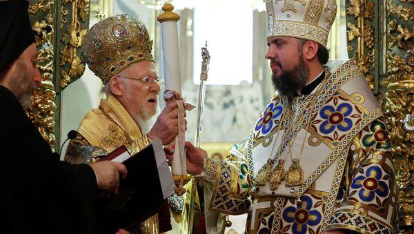Васељенски патриарх Вартоломеј и митрополит Епифаниј у Истанбулу - Sputnik Србија