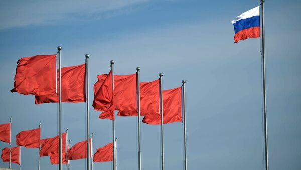 Zastave Rusije i Kine - Sputnik Srbija