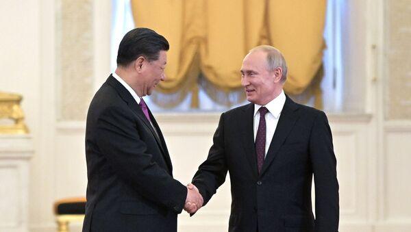 Владимир Путин и Си Ђинпинг - Sputnik Србија