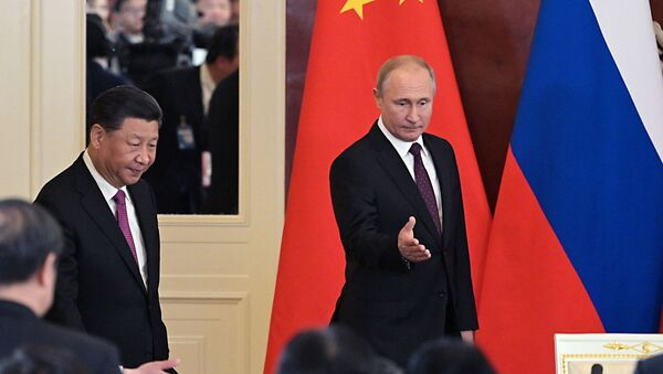 Vladimir Putin i Si Đinping - Sputnik Srbija