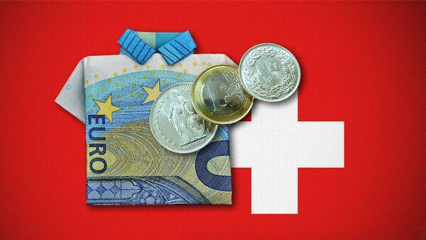 Švajcarski franci i evri - ilustracija - Sputnik Srbija
