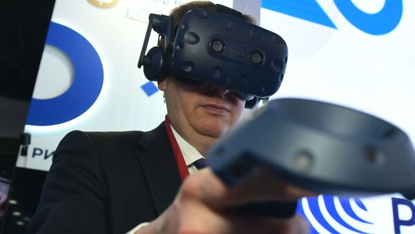 Виртуелна реалност на штанду МИА Русија севодња на Експофоруму - Sputnik Србија