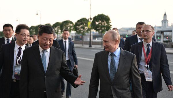 Председник Кине Си Ђинпинг и председник Русије Владимир Путин  - Sputnik Србија