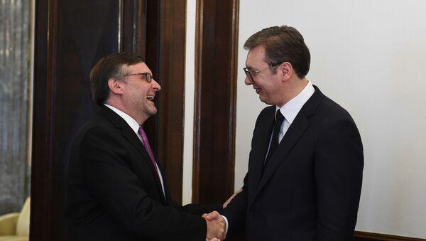 Aleksandar Vučić i Metju Palmer - Sputnik Srbija