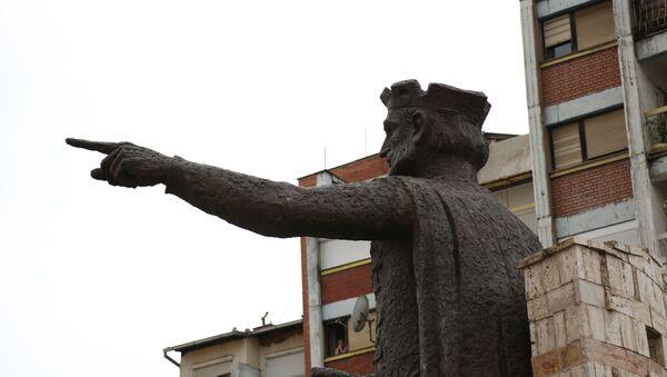 Споменик кнезу Лазару у Косовској Митровици - Sputnik Србија