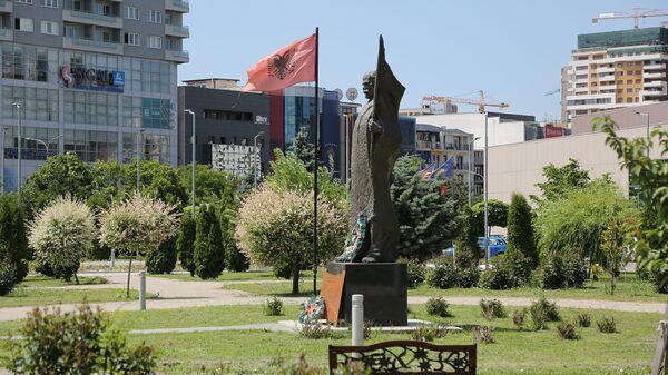 Албанска застава у Приштини  - Sputnik Србија