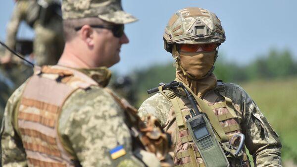 Припадници украјинске војске на војним вежбама у Лавовској области - Sputnik Србија