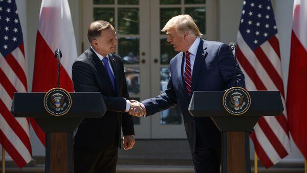 Predsednici SAD i Poljske Donald Tramp i Andžej Duda - Sputnik Srbija