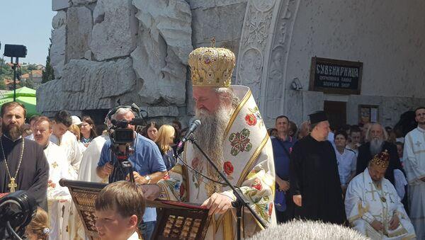 Владика будимљанско-никшићки Јоаникије чита проглас - Sputnik Србија