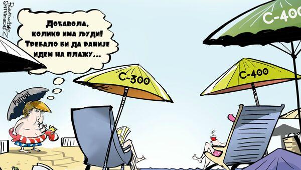 Tramp na plaži - Sputnik Srbija