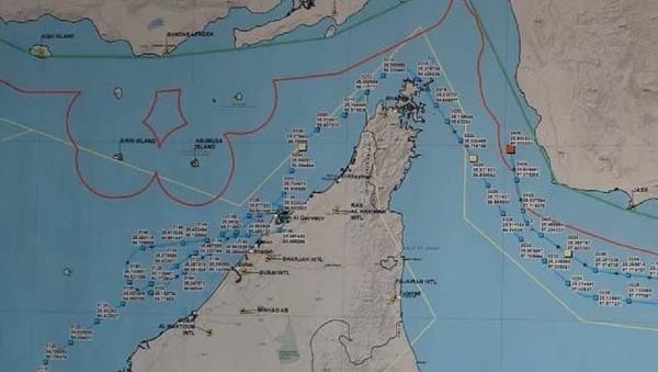 Мапа обарања америчког дрона у Ирану - Sputnik Србија