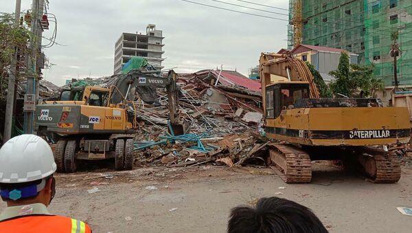 Срушена зграда у Камбоџи - Sputnik Србија