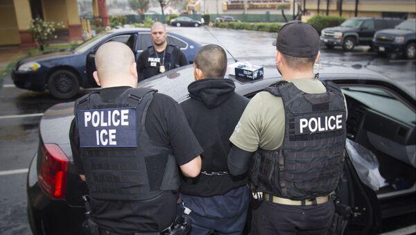 Амерички агенти хапсе илегалног имигранта - Sputnik Србија