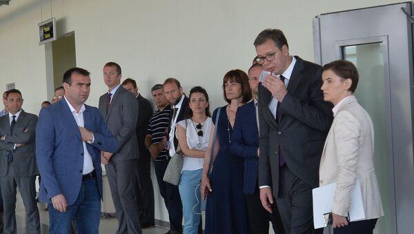 Александар Вучић и Ана Брнабић после састанка са Србима са Косова и Метохије. - Sputnik Србија