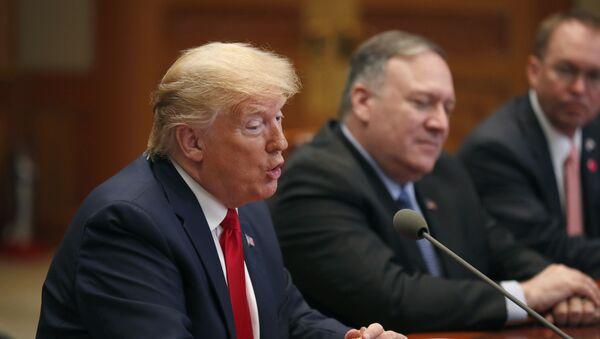 Američki predsednik Donald Tramp na sastanku sa predsednikom Južne Koreje Mun Džae Inom u Seulu - Sputnik Srbija