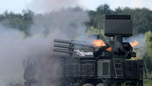 Противракетни систем 96К6 Панцир-С1 на војним вежбама на полигону Алабино - Sputnik Србија